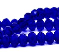 72 Dark Blue Crystal Glass Faceted Beads  8x6mm